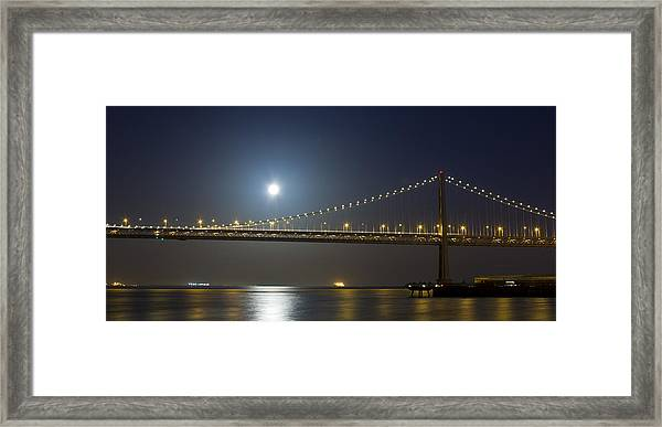 Bay Bridge Supermoon Framed Print