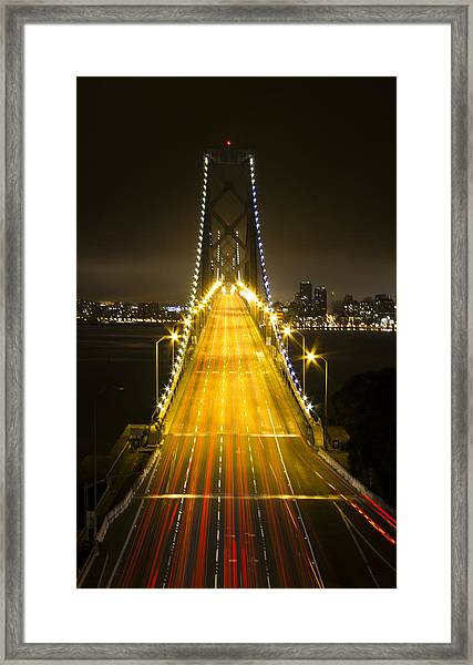 Bay Bridge Traffic Framed Print