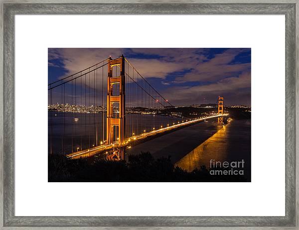 Bay Lights Framed Print