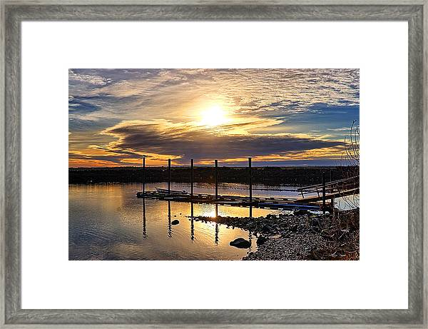 Bay Sunset Framed Print