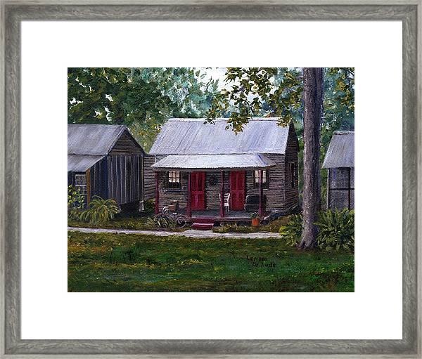 Bayou Cabins Art Breaux Bridge Louisiana Framed Print