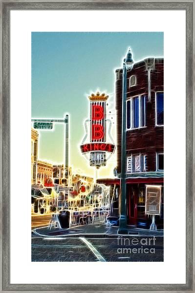 Bb King Club Framed Print