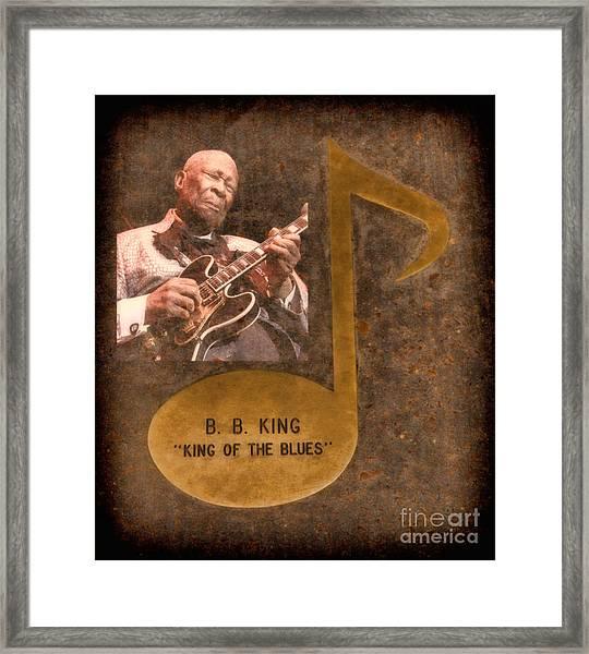 Bb King Note Framed Print