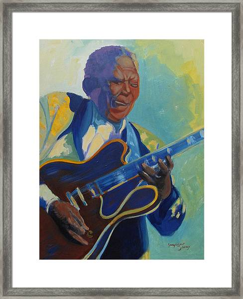 Bb King Framed Print