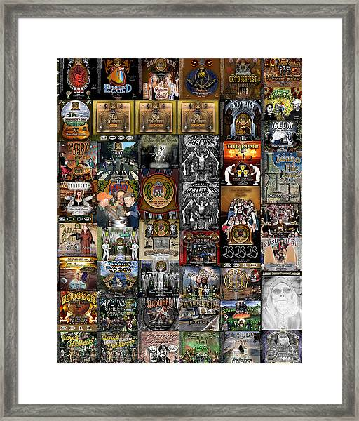Bbb And Asbc Beer Label Designs Framed Print