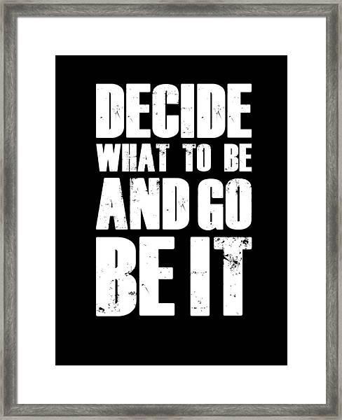 Be It Poster Black Framed Print