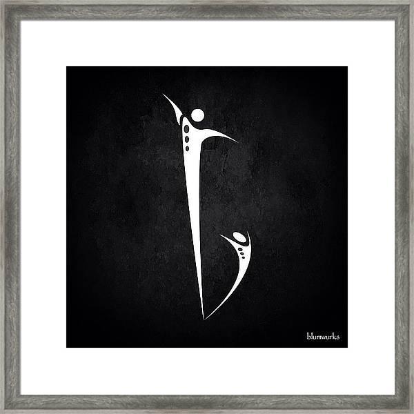 Be. Framed Print