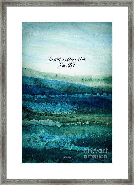 Framed Print featuring the painting Be Still by Shevon Johnson