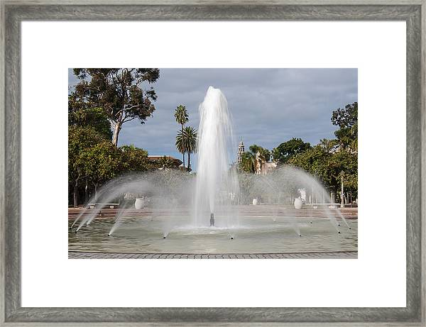Bea Evenson Fountain In Balboa Park Framed Print