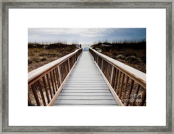 Beach Access Hilton Head Framed Print