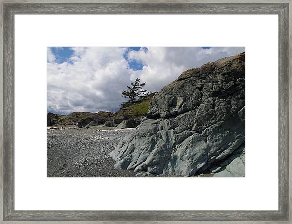 Beach At Fort Rodd Hill Framed Print