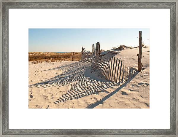 Beach At Lbi Framed Print
