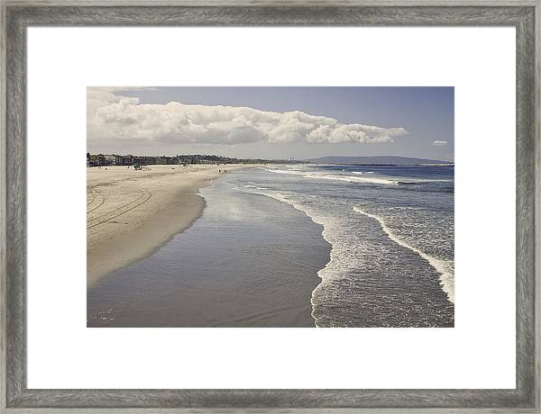Beach At Santa Monica Framed Print