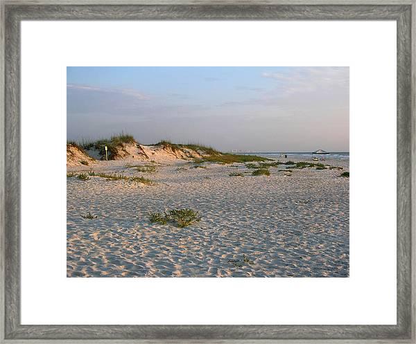 Beach At Sunrise Framed Print