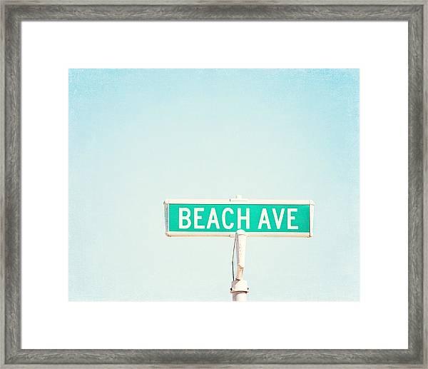 Beach Ave. Framed Print