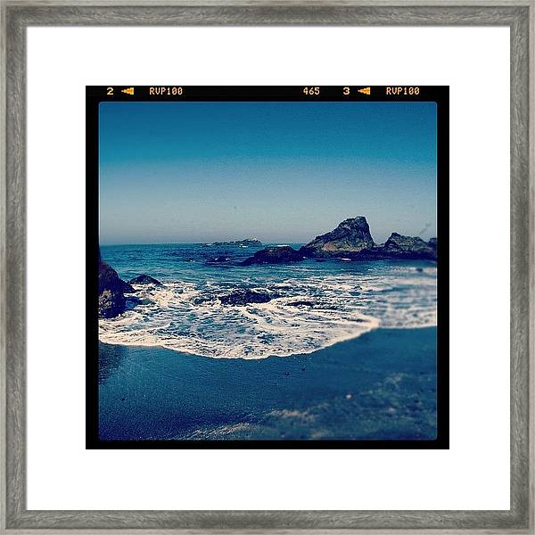 #beach #beautiful #water #waves #nature Framed Print
