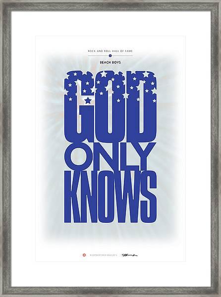 Beach Boys - God Only Knows Framed Print
