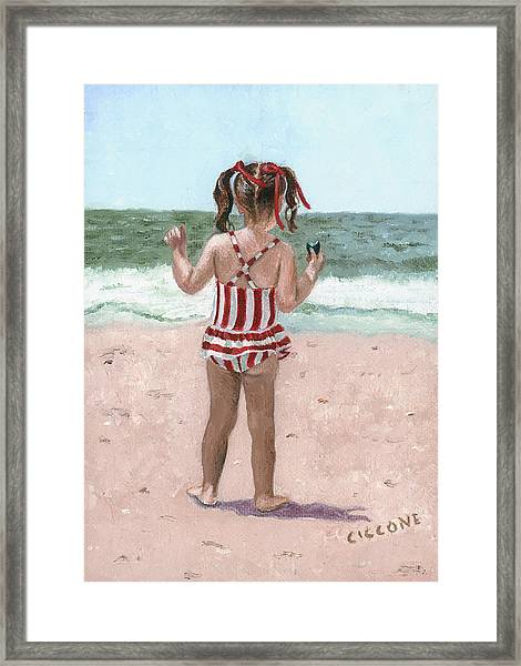 Beach Buns Framed Print