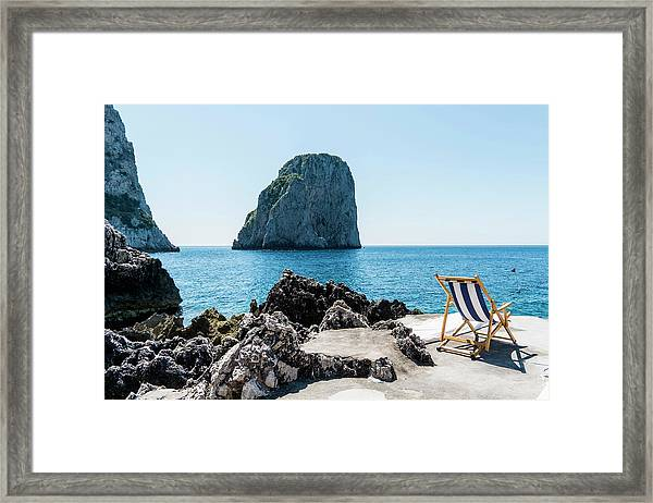 Beach Club La Fontanella, Capri Framed Print