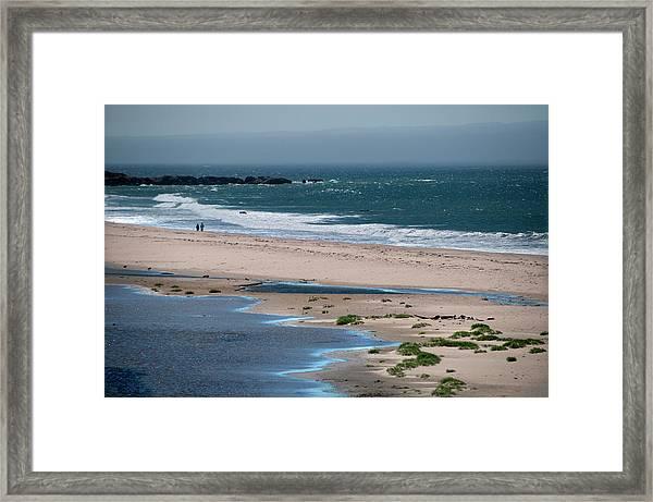 Beach Couple Framed Print