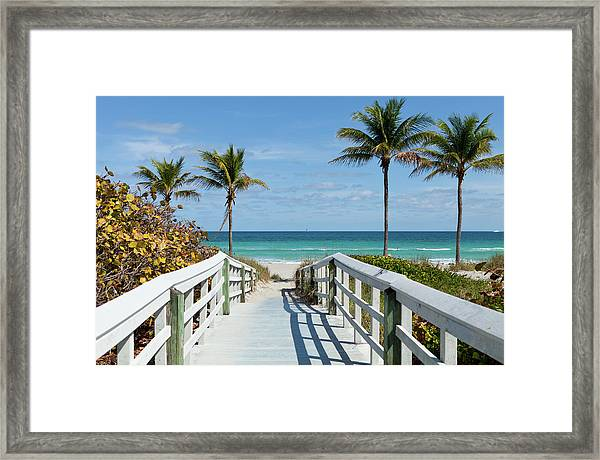 Beach Entrance, Florida Framed Print