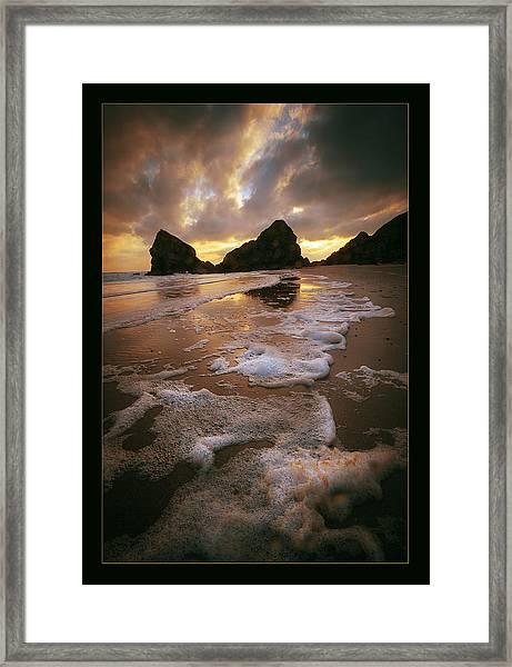 Beach Foam Framed Print