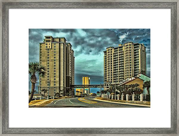 Panama City Beach Front Rd Framed Print