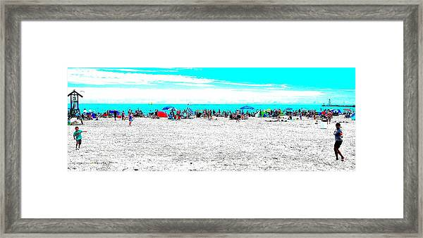 Beach Fun 1 Framed Print