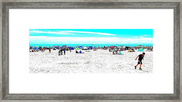 Beach Fun 2 Framed Print