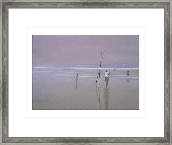Beach Ghosts Framed Print
