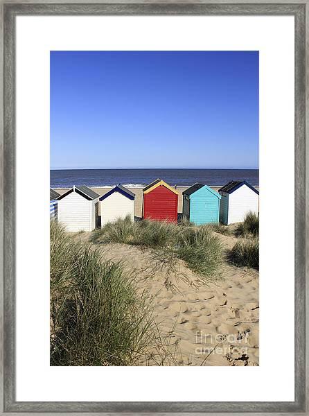 Southwold Beach Huts Uk Framed Print