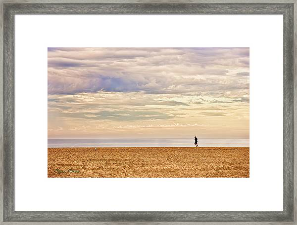 Beach Jogger Framed Print