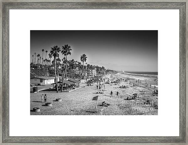 Beach Life From Yesteryear Framed Print