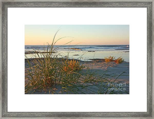 Beach Morning Framed Print