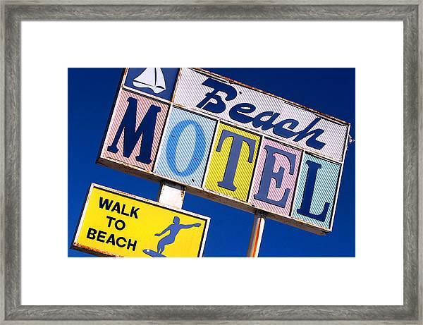Beach Motel Framed Print