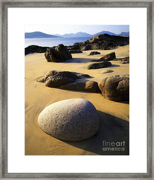 Beach Of Gold Framed Print