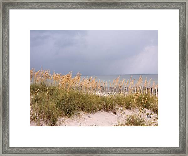 Beach On West Ship Island Framed Print