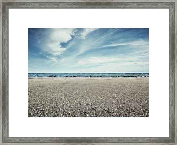 Beach Parking Lot Framed Print