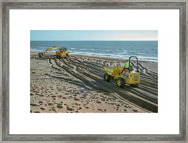 Beach Repair Framed Print
