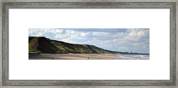 Framed Print featuring the photograph Beach - Saltburn Hills - Uk by Scott Lyons