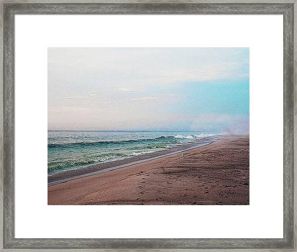 Beach Sentry Framed Print