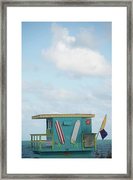 Beach Shack Framed Print by Aaron Mccoy
