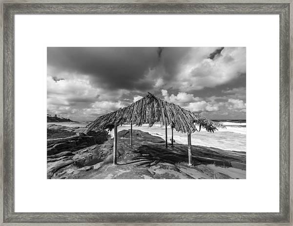 Brilliant Beach Shack Framed Print