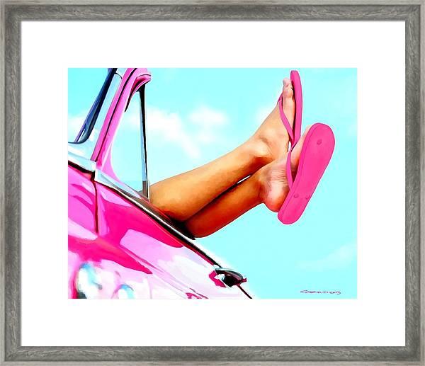 Beach Slippers - Summer Time Serie Framed Print