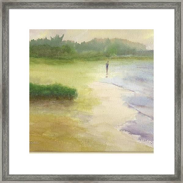 Beach Solitude Framed Print