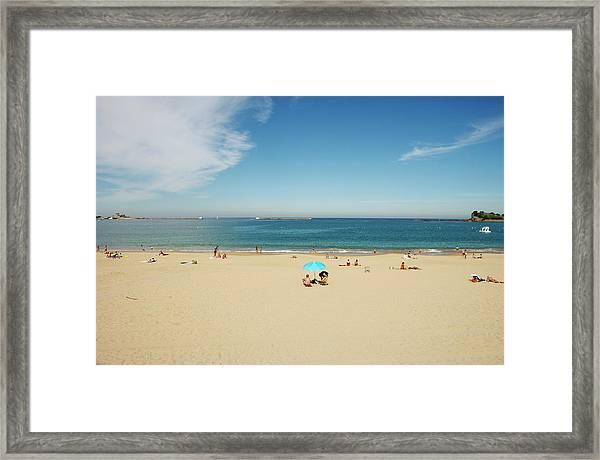 Beach St Jean De Luz Framed Print