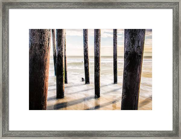 Framed Print featuring the photograph Beach Totems by Steve Stanger