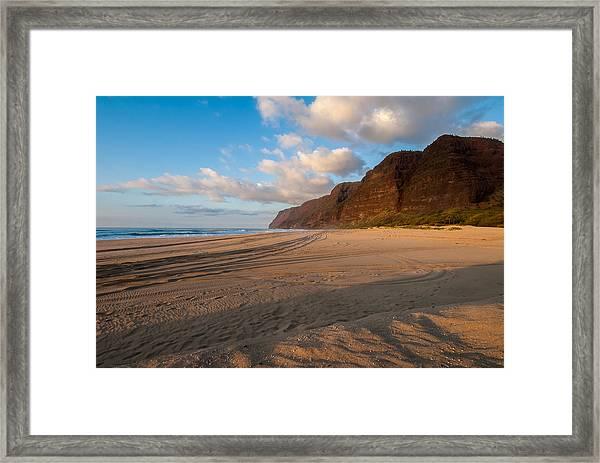 Beach Tracks Framed Print