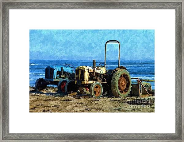Beach Tractors Photo Art Framed Print