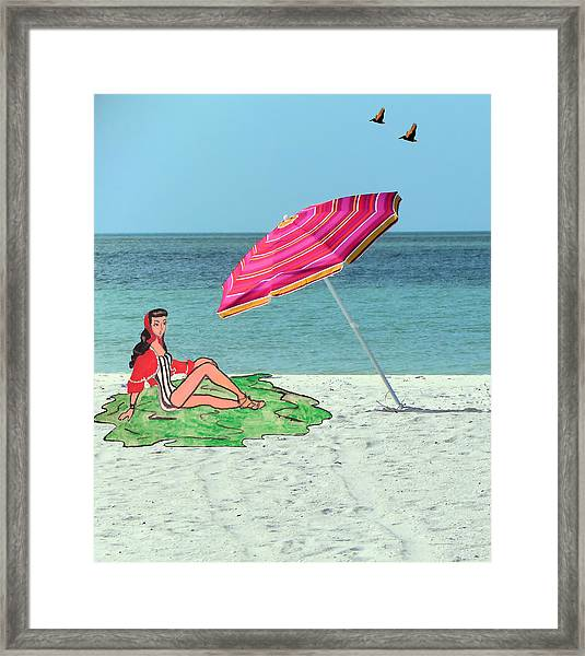 Beach Vacation Framed Print by Rosalie Scanlon